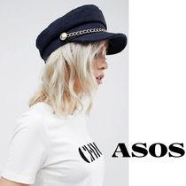 ASOS ベーカーボーイハット チェーン付き