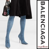 【国内発送】Balenciaga ブーツ Knife spandex thigh boots
