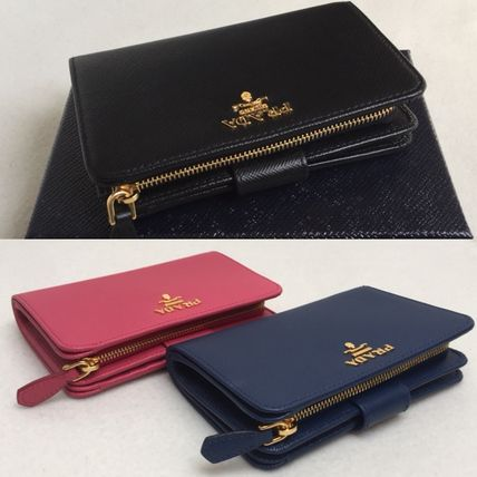 PRADA☆SAFFIANO☆2つ折り財布1ML225【BLUETTE/PEONIA】