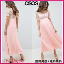 ★ASOS★マタニティHigh Neck Cutwork Lace Top Maxi Dress