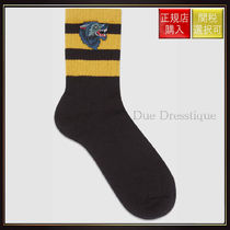 【グッチ】Cotton Socks With Wolf Black Cotton