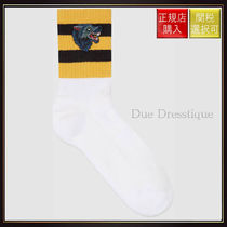 【グッチ】Cotton Socks With Wolf White Cotton
