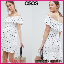 ★ASOS★マタニティ  off shoulder sundress with tiered skirt