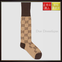 【グッチ】Interlocking G Cotton Socks Beige Cotton