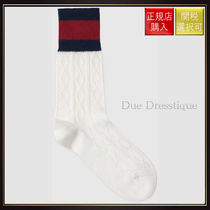 【グッチ】Wool Socks With Web White Wool