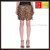 【ディースクエアード】Animalier Buckled Skirt Multicolor