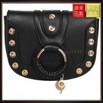 【シーバイクロエ】Hana Leather Studded Bag Nero