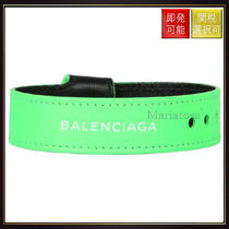 【バレンシアガ】Balenciaga Nappa Leather Bracelet Neon Green