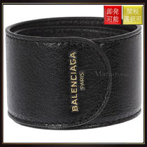 【バレンシアガ】Cycle Leather Bracelet OneColor