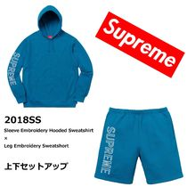 18SS☆Supreme Embroidery Hooded×Sweatshort セットアップ