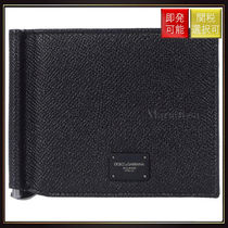 【ドルチェ&ガッバーナ】Dauphine Leather Money Clip Wallet