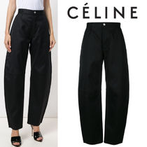 【18SS】大注目!!★CELINE★rounded high-rise trousers