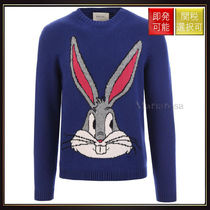 【グッチ】Bugs Bunny Intarsia Knit Pullover Blue With?Multi