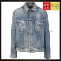 【グッチ】Tiger Patched Denim Jacket Blue