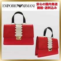 ◇EMPORIO ARMANI◇Smooth Leather Satchel Bag 【関税送料込】