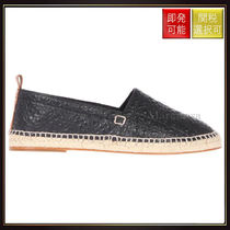 【ロエベ】Anagram Repeat Nappa Leather Espadrilles Black