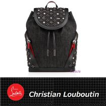 【Christian Louboutin】Explorafunk Blackデニム バックパック