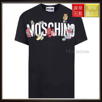 Moschino(モスキーノ) Tシャツ・カットソー 【モスキーノ】Logo Print Cotton T Shirt With Patches Black