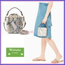 【kate spade】注目の可愛いバケツバッグ★snake-embossed pippa