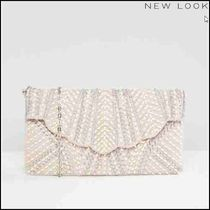 【New Look(ニュールック)】Scallop Pearl Clutch Bag
