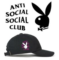 【即発送】ANTI SOCIAL SOCIAL CLUB x Playboy ロゴ キャップ