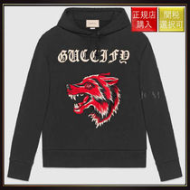 【グッチ】Guccify Cotton Sweatshirt With Wolf OneColor