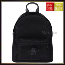 【ヴェルサーチ】Medusa Head Nylon Backpack Black