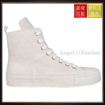 Ann Demeulemeester(アン ドゥムルメステール) スニーカー 【アン ドゥムルメステール】Suede High Top Sneakers Bianco