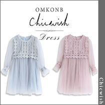 Chicwish(シックウィッシュ) キッズワンピース・オールインワン 【国内発送・関税込】Chicwish★Grace Lace Mesh Tulle Dress