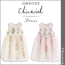 Chicwish(シックウィッシュ) キッズワンピース・オールインワン 【国内発送・関税込】Chicwish★Little Embroidered Mesh Dress