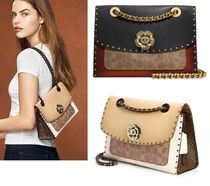 Coach ◆29416 Parker with border rivets and snakeskin detail
