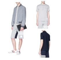 限定exclusiveモデル◆THOM BROWNE◆1COLOURBLOCK POLO SHIRT