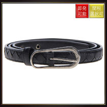 【ボッテガヴェネタ】Woven Nappa Leather Belt Black