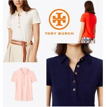 【TORY BURCH】Lennox Terry Cloth Polo * ポロシャツ