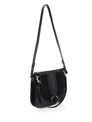 See by Chloe ショルダーバッグ 【シーバイクロエ】Black Hana Suede And Leather Shoulder Bag(4)