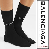 Balenciaga ソックス Intarsia cotton-blend socks
