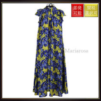 【バレンシアガ】Floral Printed Silk Midi Dress OneColor