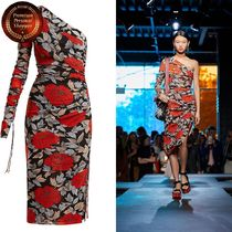 DVF RUNWAY Boswell floral-print one-shoulder ワンピース