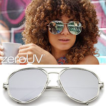 zeroUV(ゼロユーブイ) サングラス 再入荷なし*zeroUV*GEOMETRIC HEXAGONAL MIRRORED LENS AVIATOR