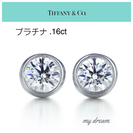 【Tiffany & Co】プラチナ☆By The Yard Earring .16ct