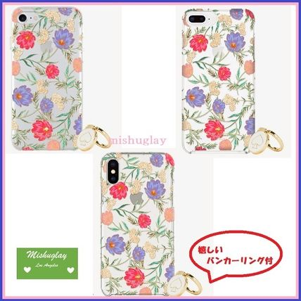 【kate spade】お花柄★バンカーリング付♪6/6s/7/8 Plus or X★