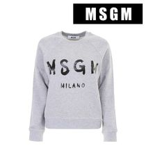 MSGM LONG SLEEVES COTTON JERSEY T-SHIRT 1000MDM8910010196