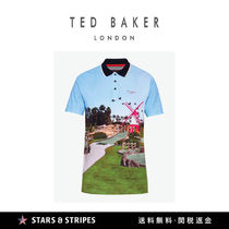 TED BAKER(テッドベーカー) メンズ・トップス 日本未発売 TED BAKER GOLFメンズ AXIS ミニゴルフプリント ポロ