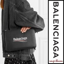 【国内発送】Balenciaga ポーチ Printed leather pouch