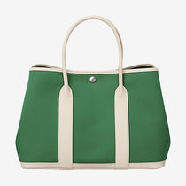 HERMES 大人気中 !! Garden Party 36 tote bag,Cactus/Craie
