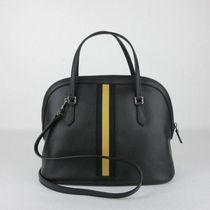 GUCCI BAG 420023 BLACK LEATHER DOME ショルダーバッグ