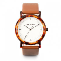 MR.BOHO☆ACETATE 38mm 腕時計 / White Walnut