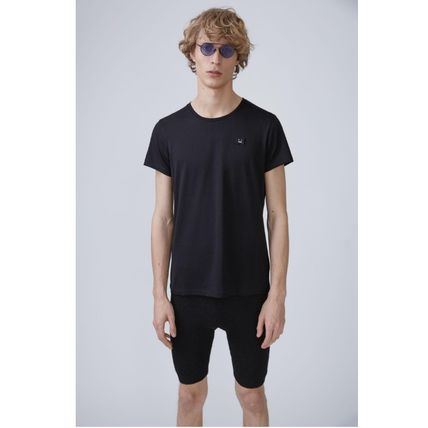 Acne Tシャツ・カットソー ACNE Standard face black/white スタンダードフェイス付Tシャツ(2)