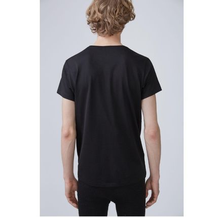 Acne Tシャツ・カットソー ACNE Standard face black/white スタンダードフェイス付Tシャツ(3)
