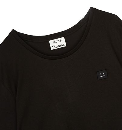 Acne Tシャツ・カットソー ACNE Standard face black/white スタンダードフェイス付Tシャツ(4)
